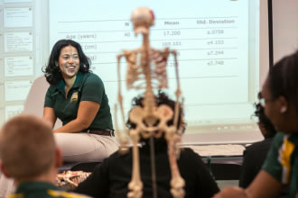 Candace Parham teaching Athletic Training and Education students